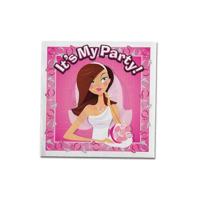 Bride-to-Be Trivia Napkins - 10 Count