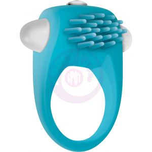 Teal Tickler Silicone Vibe Cockring