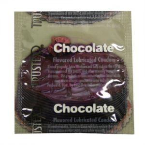 Trustex Flavored Lubricated Condoms - 3 Pack - Chocolate