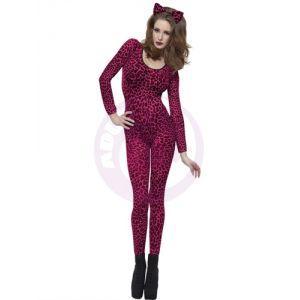 Leopard Print Pink Bodysuit