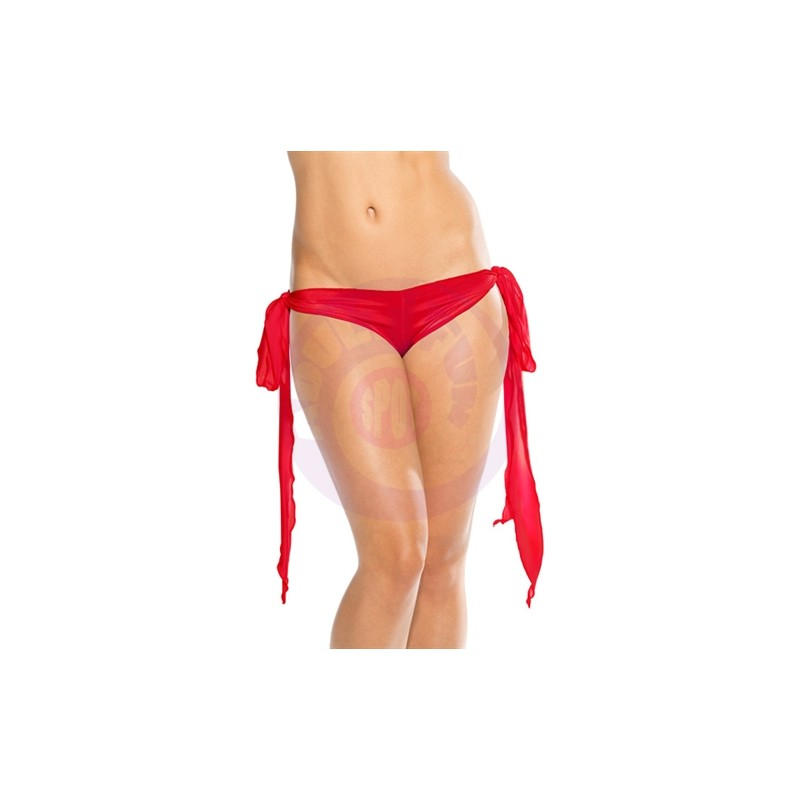 Ribbon Tie Shorts - Red - One Size