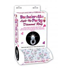 Bachelorette Light-Up Party Diamond Ring - 24 Piece Display
