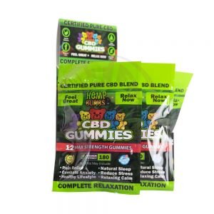 Hemp Bombs Gummies Jumbo 12 Ct Display 180mg
