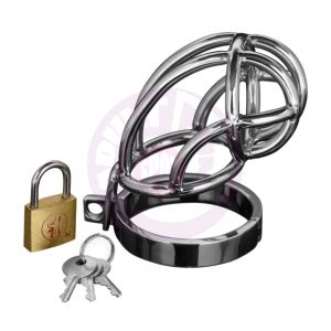 Captus Locking Stainless Steel Chastity Cage