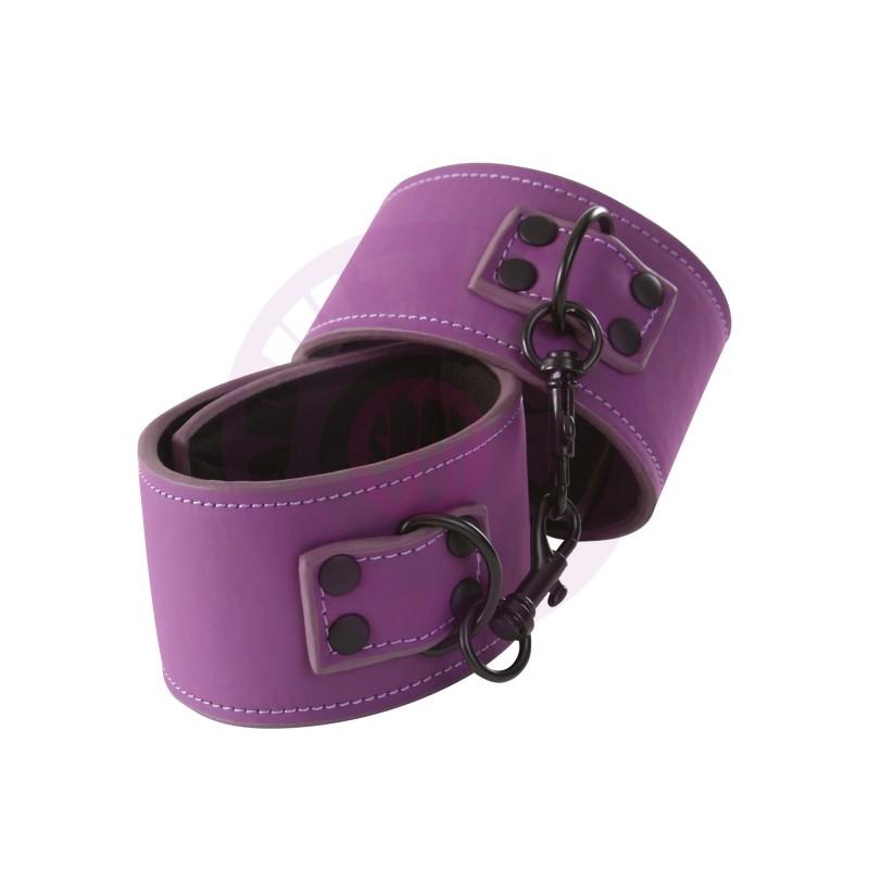 Lust Bondage Wrist Cuff - Purple