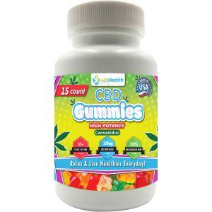 420 Health Hemp Gummies - 15ct - Bottle - 300mg  20mg Per Serving