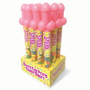 Super Fun Penis Cane Display - 12 Count