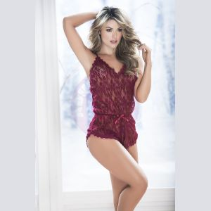 Babydoll Romper - Extra Large - Burgundy