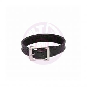 Leather Stretcher Plain Cock Ring With Buckle