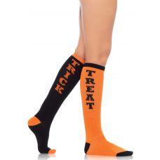 Trick or Treat Acrylic Knee Socks - One Size