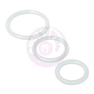 Trinity Silicone Cock Rings - Clear