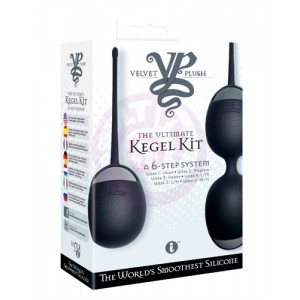 Velvet Plush the Ultimate Kegel Kit - Black