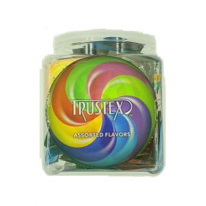 Trustex Flavored Lubricated Condoms 144 Pieces Box - Assorted Flavors