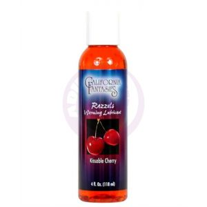 Razzels Warming Lubricant - Kissable Cherry - 4 Oz. Bottle