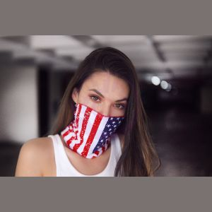 Face/ Neck Bandana - Usa Print - One Size