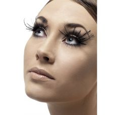 Feather Plume Eyelashes - Black