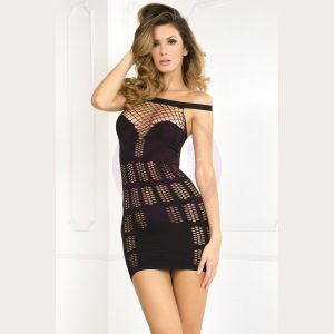 Big Spender Multi-Net Seamless Dress - Black - Small/medium
