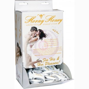 Horny Honey Stimulating Arousal Gel - 144 Piece Display - 2 Cc. Pillow Packs