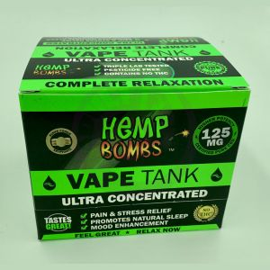 Hemp Bombs 125mg Hemp Vape Tank Cartidge - Sugar Cookie Kryptonite 6 Ct Display