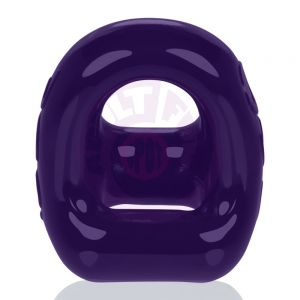 360 2- Way Cockring + Ballsling - Eggplant