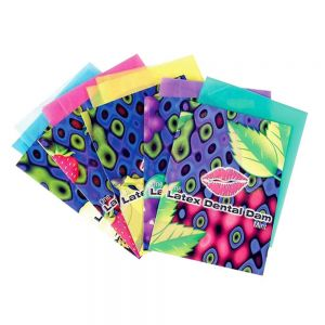 Lixx Latex Dental Dams - 100 Piece Box - Assorted Flavors