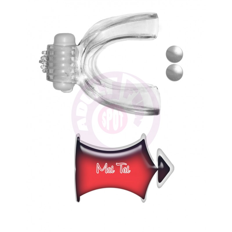 Tongue Star Tongue Vibe With 10 ml Liquor Lube - Clear