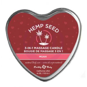 Heart Candle - 3-in-1 - Muah - 4.7 Oz.