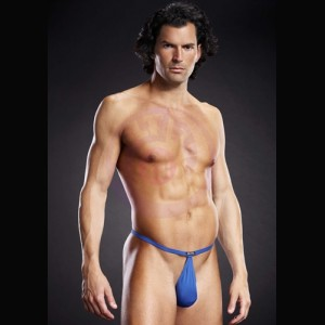 Performance Microfiber Pouch G-String - Royal Blue - Large-Extra Large