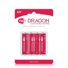 Dragon - Alkaline Batteries - AA - 4 Pack