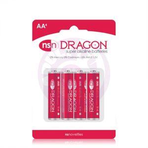 Dragon - Alkaline Batteries - AA - 4 Pack