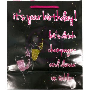 Its Your Birthday Glitter Embellished Gift Bag
