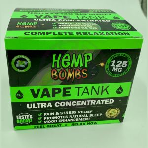 Hemp Bombs 125mg Hemp Vape Tank Cartidge - Artic Spearmint Blast 6 Ct Display