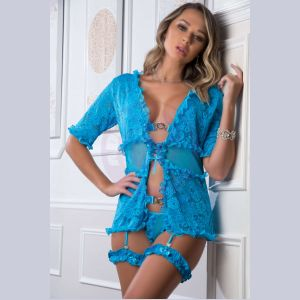4 Pc. the Ultimate Combination Robe Set - Neon  Bluejay - One Size