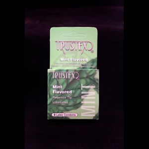 Trustex Flavored Lubricated Condoms - 3 Pack - Mint