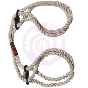 Kink - Hogtied - Bind & Tie - 6mm Hemp Wrist or  Ankle Cuffs - Natural