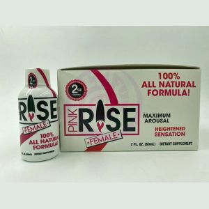 Pink Rise Shot- 12 Liquid Bottle Female Sexual  Enhancement Display - 2 Fl. Oz.