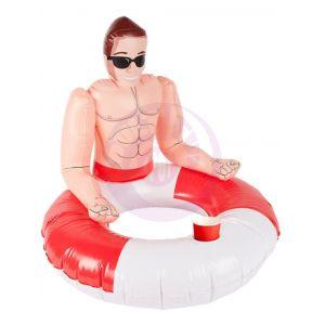 Inflatabale Lifeguard Hunk Swim Ring