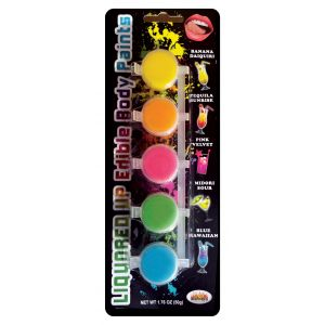 Liquored Up Edible Body Paints - 5 Assorted Flavors
