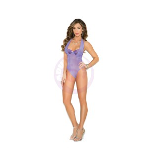 Underwire Demi Cup Teddy - Extra Large  - Purple