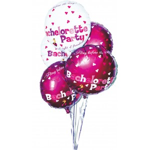 Bachelorette Party Foil Balloons 9 Pack Assorted  Colors