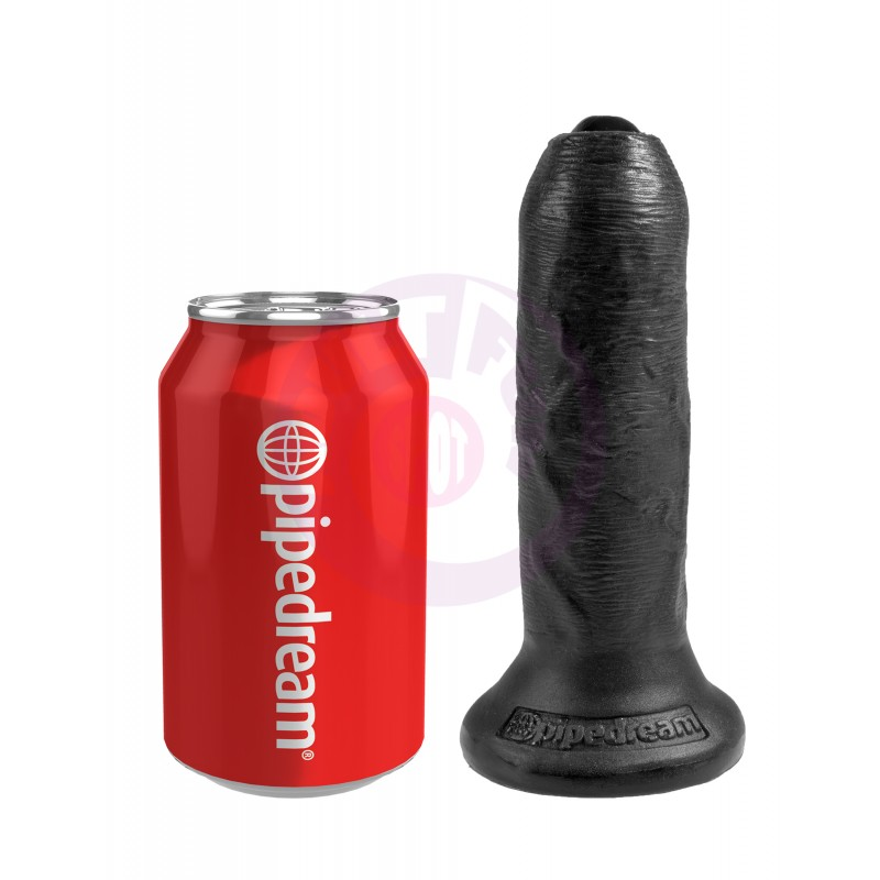 "King Cock 6"" Uncut - Black"