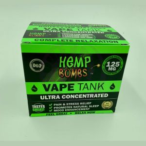 Hemp Bombs 125mg Hemp Vape Tank Cartidge - Whipped Marshmellow Dream 6 Ct Display