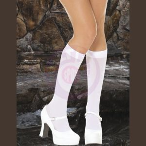 Opaque Knee Hi - White