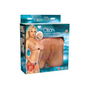 Bree Olson Cyberskin Vibrating Suction-Base Pussy and Ass
