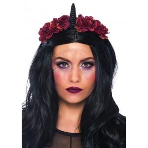 Dark Velvet Unicorn Flower Headband
