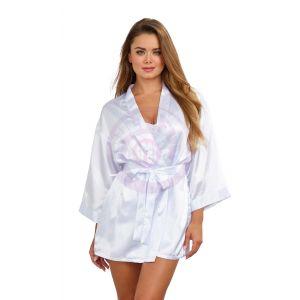 Robe, Chemise, Padded Hanger - Small - White