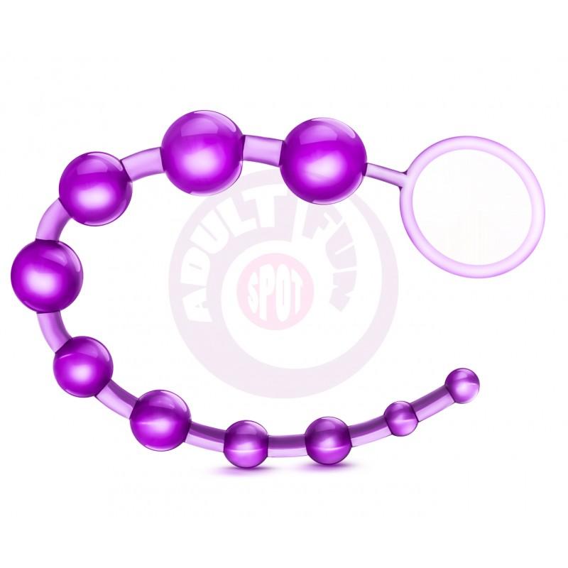 Sassy 10 Anal Beads - Purple