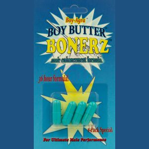 Boy-Agra Boy Butter Bonerz - Male Enhancement 4 Pack