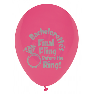 Bachelorette's Last Night Out! - Final Fling Before the Ring Balloons - 6 Pack