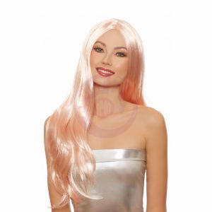 Dreamgirl Long Straight Rose Gold Wig